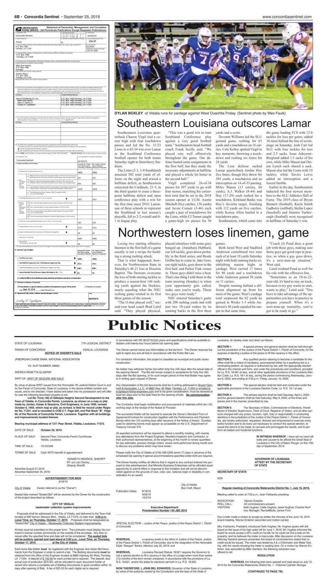 Public Notices - 9.25.19