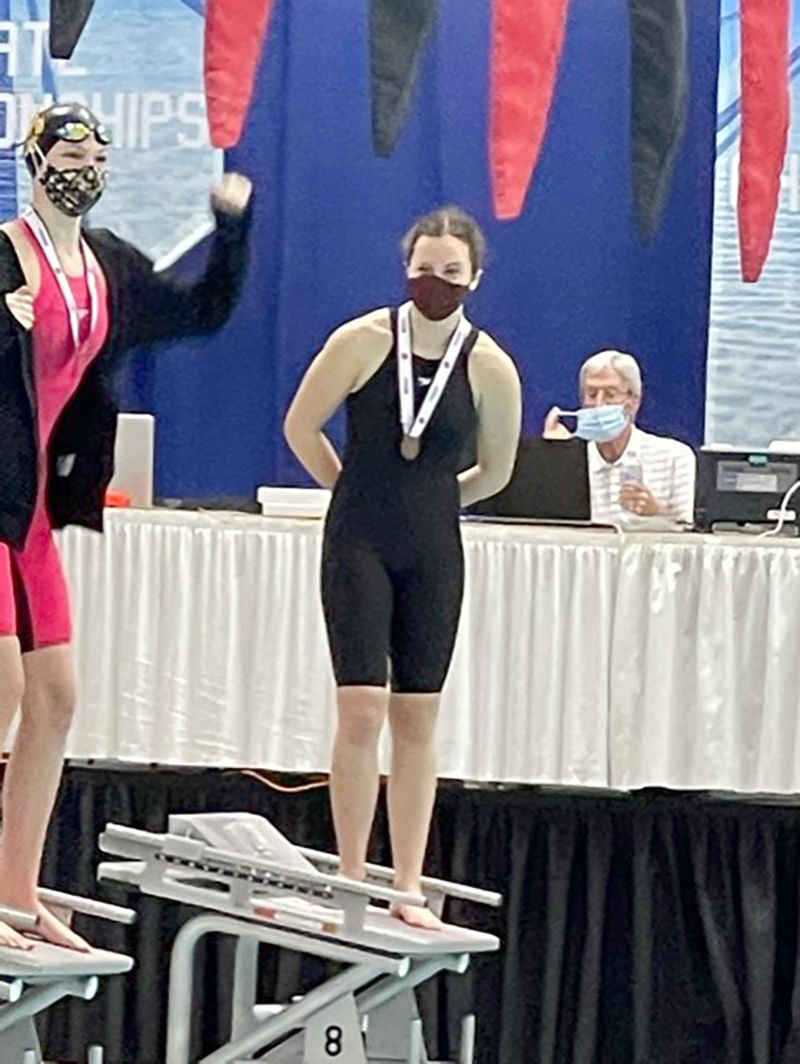 Hannibal girls swimming finishes 12th at state meet