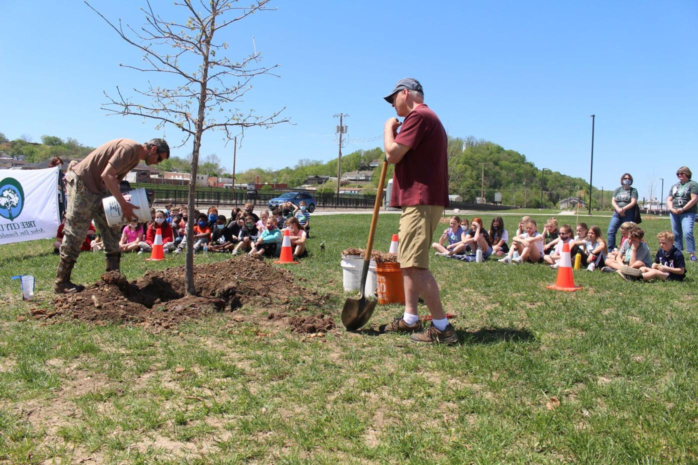 Arbor Day celebration takes root on riverfront