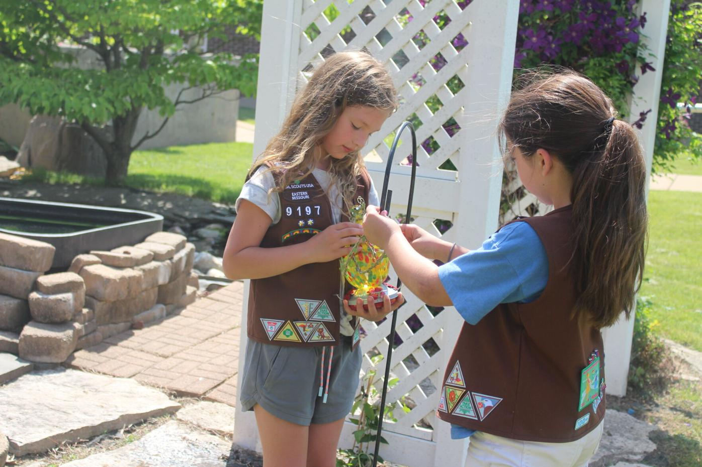 Brownie Scouts create new habitat for Monarch butterflies at Beth Haven