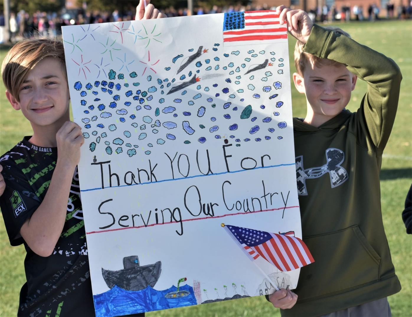 Ralls students celebrate veterans