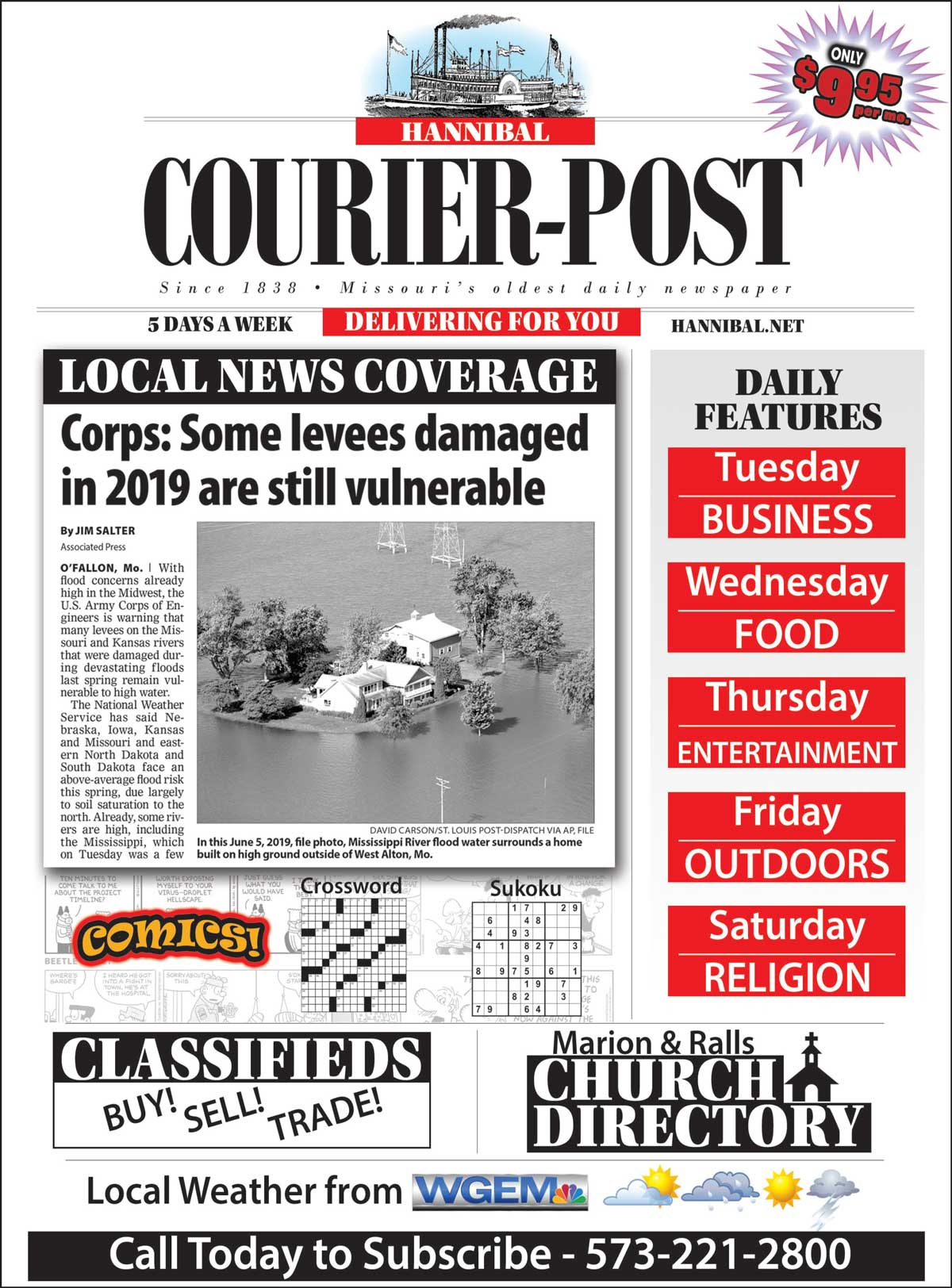 Hannibal Courier-Post ad - subscribe
