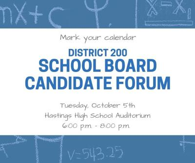 District 200 School board candidate forum