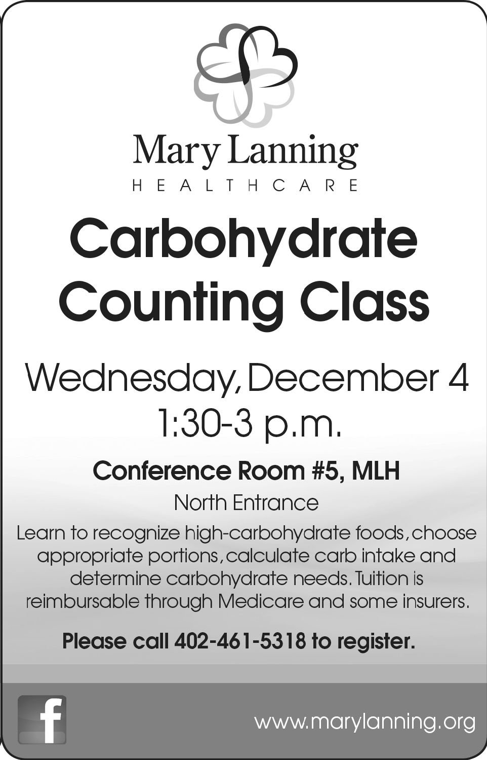 Mary Lanning carb count