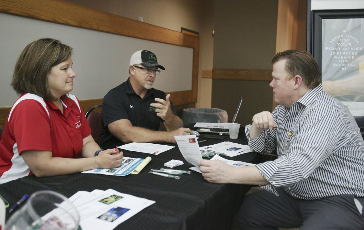 Hastings area employers at career fair look to fill vacancies news ed macdonald who is currently employed by bimbo bakery talks to becky anderson left and jody moeller of pioneer during the career fair at hastings city publicscrutiny Image collections