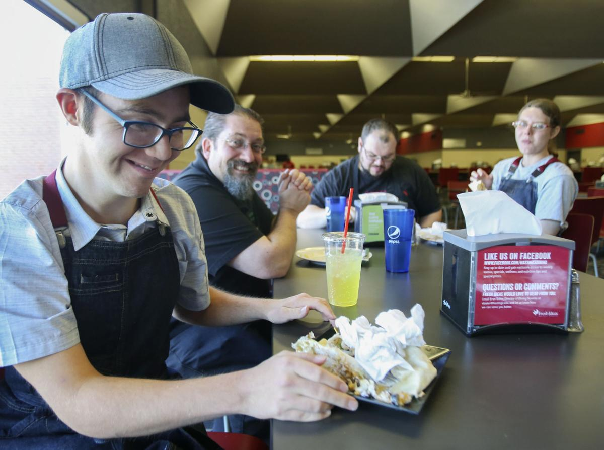 If you build it they will excel news hastingstribune jimmy keen eats lunch with coworkers following his shift in the hastings college dining hall wednesday publicscrutiny Image collections