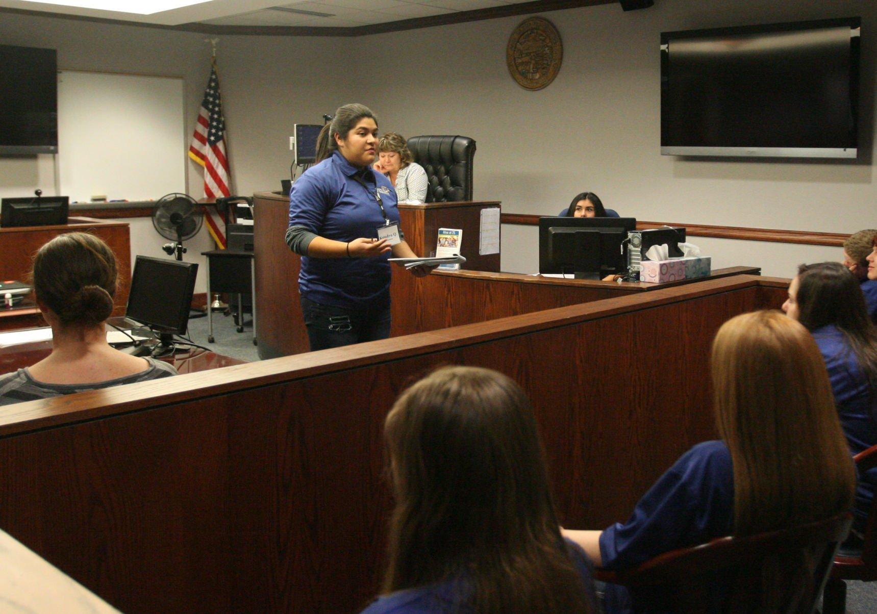 Juvenile court oversees teen court