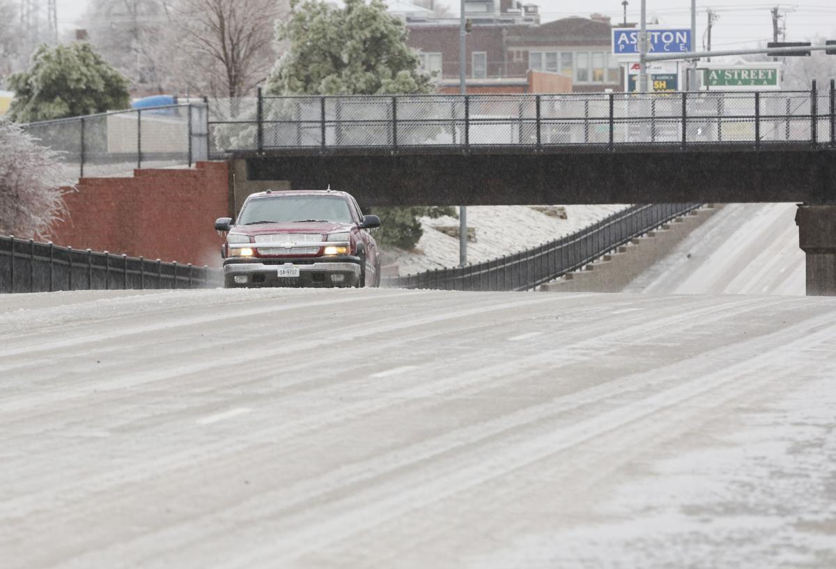 Icy Burlington Ave