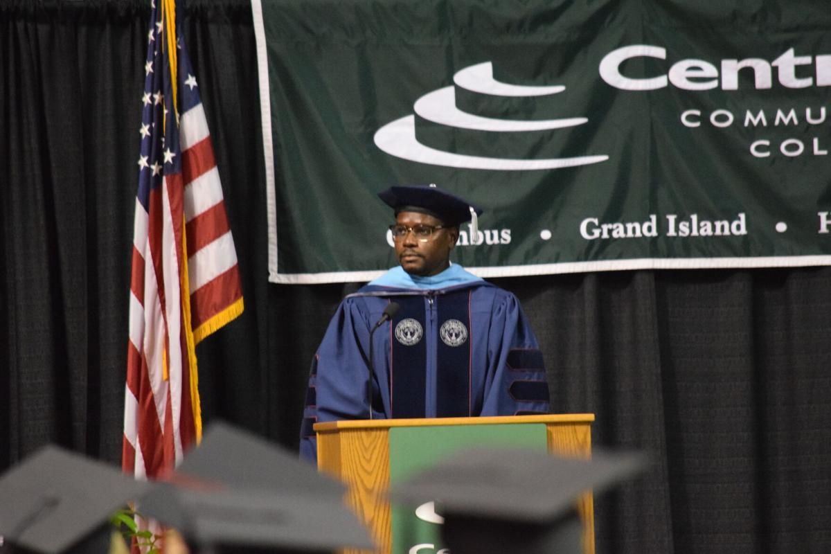 Jerry Wallace at graduation