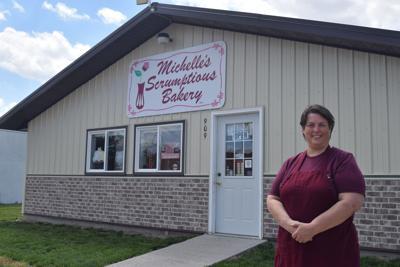Michelle Brooks outside bakery