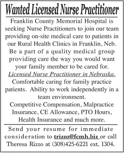 Wanted: Licensed Nurse Practitioner