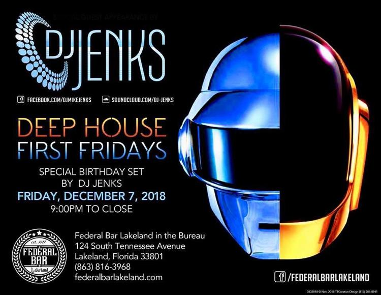 Deep House First Friday DJ Jenks Birthday Set | Calendar