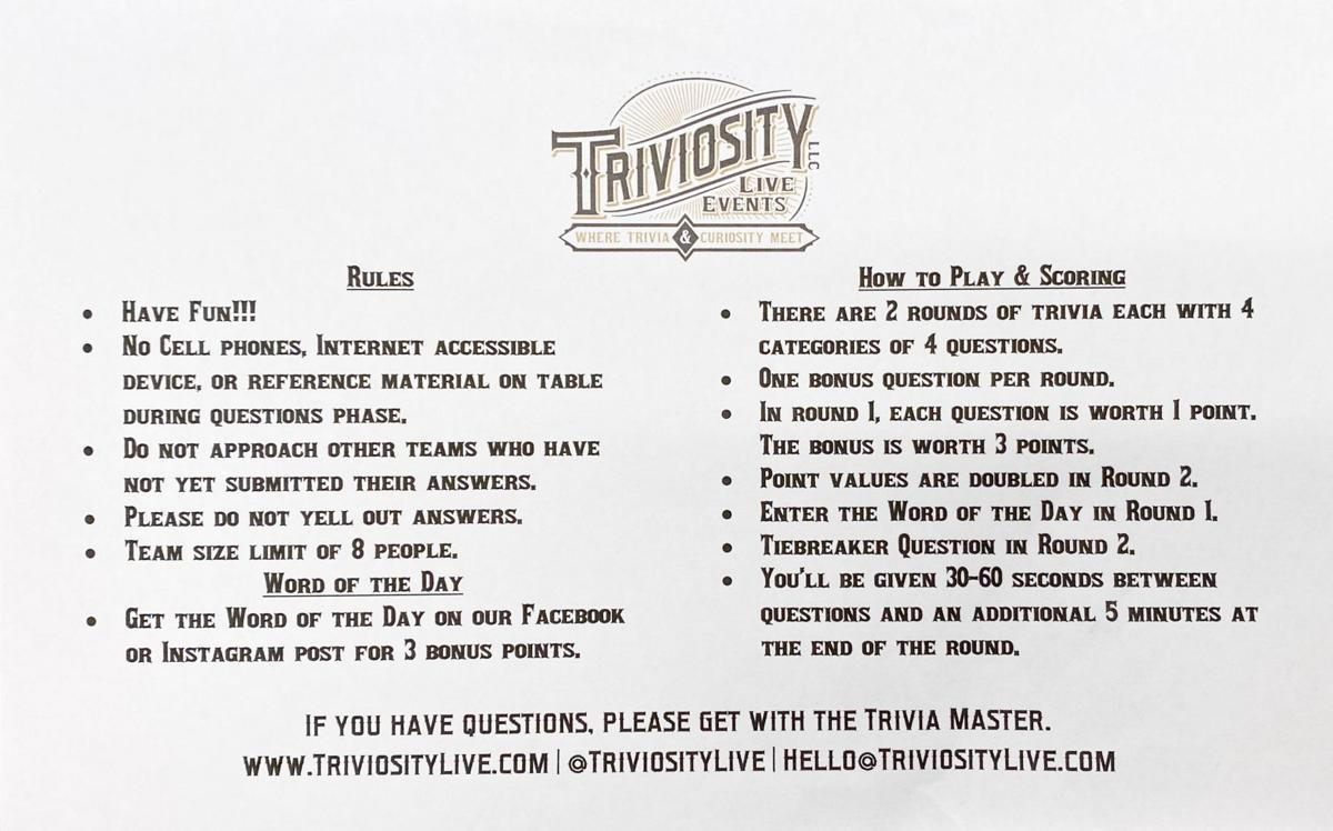 Triviosity Live Events