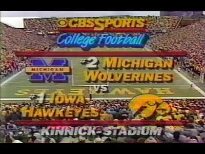 Iowa Michigan 1985
