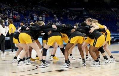 Iowa Women's Basketball Huddle