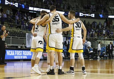 Iowa Basketball Team Huddle