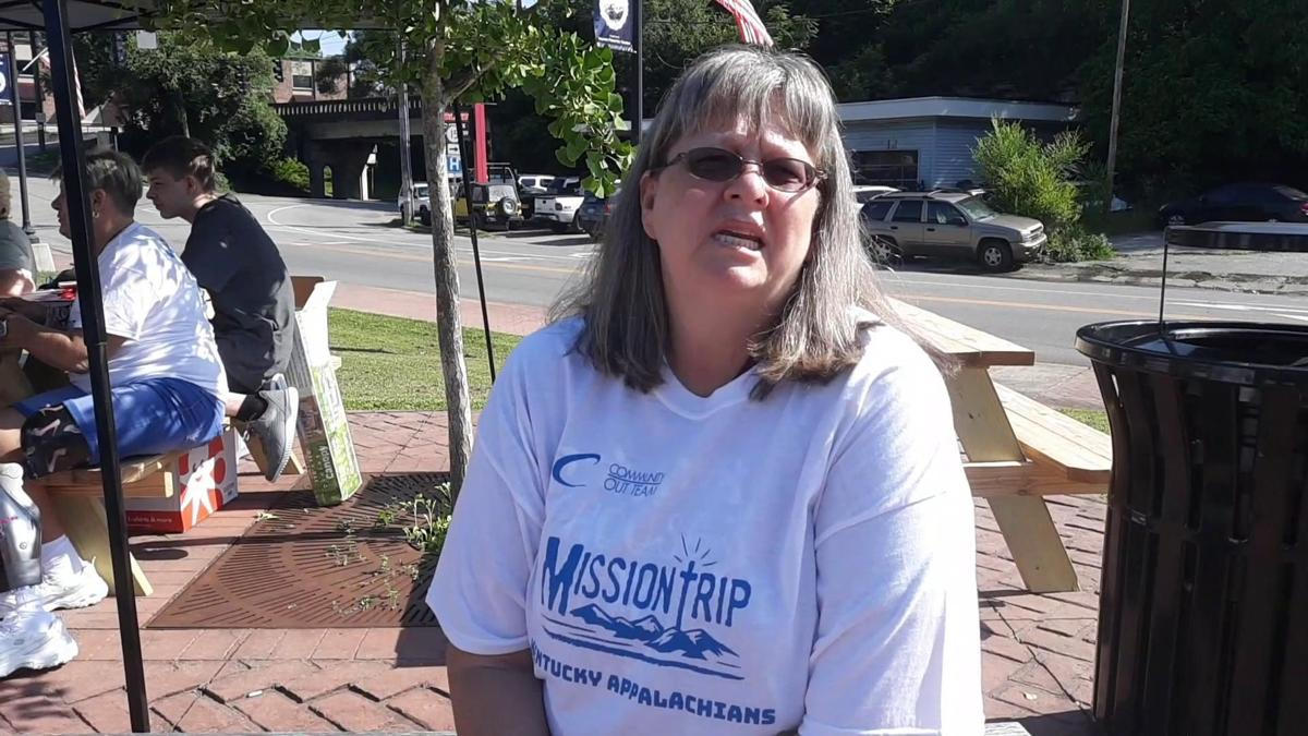 Georgia Missionaries give out donations in Hazard