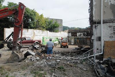 Art Station demolition finishing