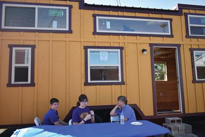Tiny house auction and cookout held