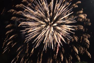 Fireworks on the 4th July 2021 in Granbury Texas