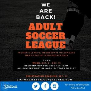Victorville brings back adult soccer leagues