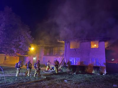 PHOTO: Apartment fire on Yucca Loma road, Apple Valley, 9/13/21