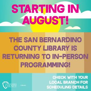 County libraries to return to in-person programming