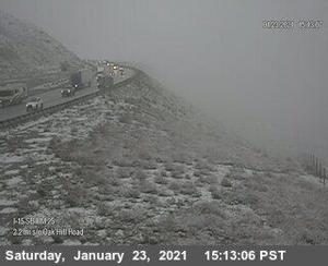 Snowstorm in Cajon Pass — Traffic Updates