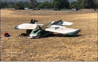 PHOTO: Plane crash, Riverside Airport