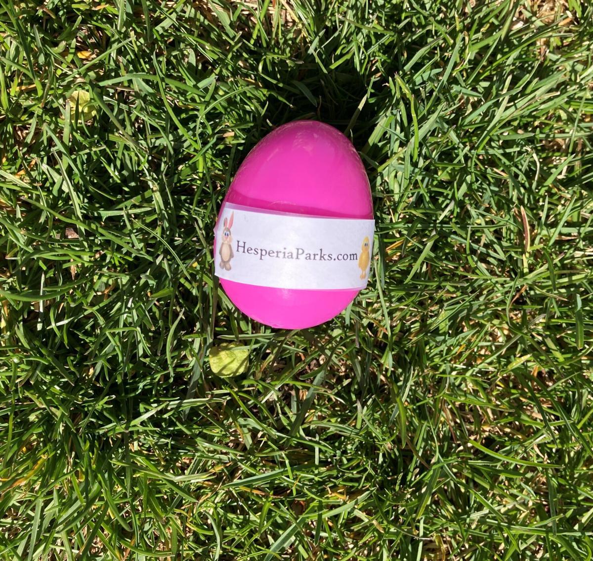 PHOTO: Eater egg from Hesperia Parks