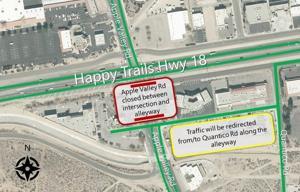 REMINDER: This weekend 10/22-10/24 roadwork takes place on AV Road/Hwy 18