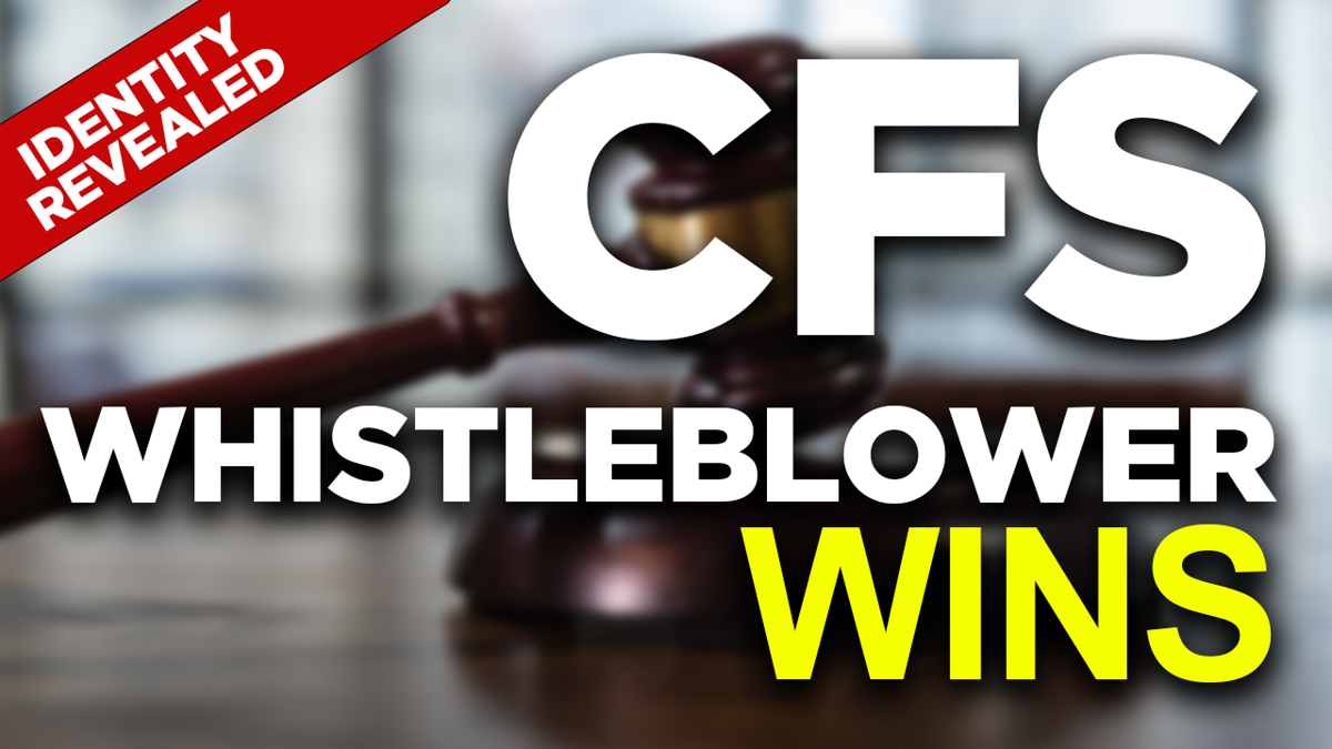 PHOTO: CFS Whistleblower wins, Court of Justice, Law and Rule Concept, Judge`s Gavel on The Table