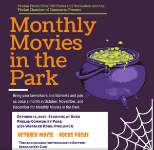Movies in the Park: Hocus Pocus TONIGHT ONLY