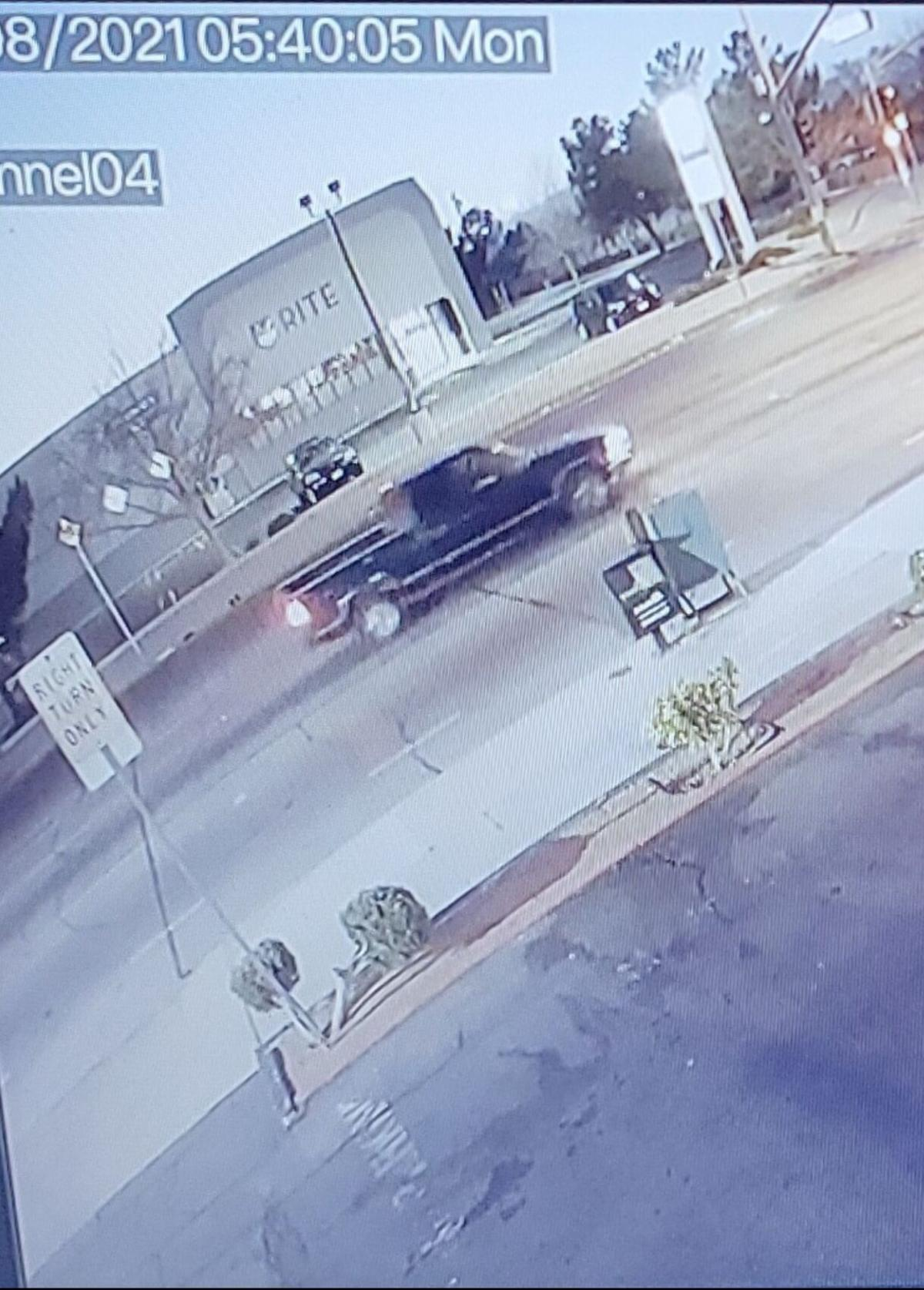 PHOTO - Truck on 7th Street - Fatal hit and run