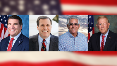 "PHOTO: Congressman Jay Obernolte, State Senator Scott Wilk, Assemblyman Thurston ""Smitty"" Smith, District 1 Supervisor Paul Cook"