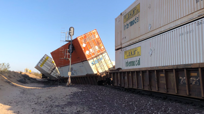 PHOTO: Train derailment, Kramer Junction