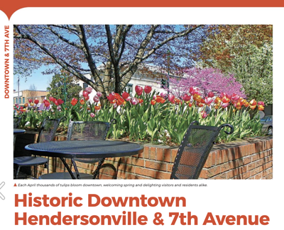 Downtown Hendersonville and & 7th Avenue.