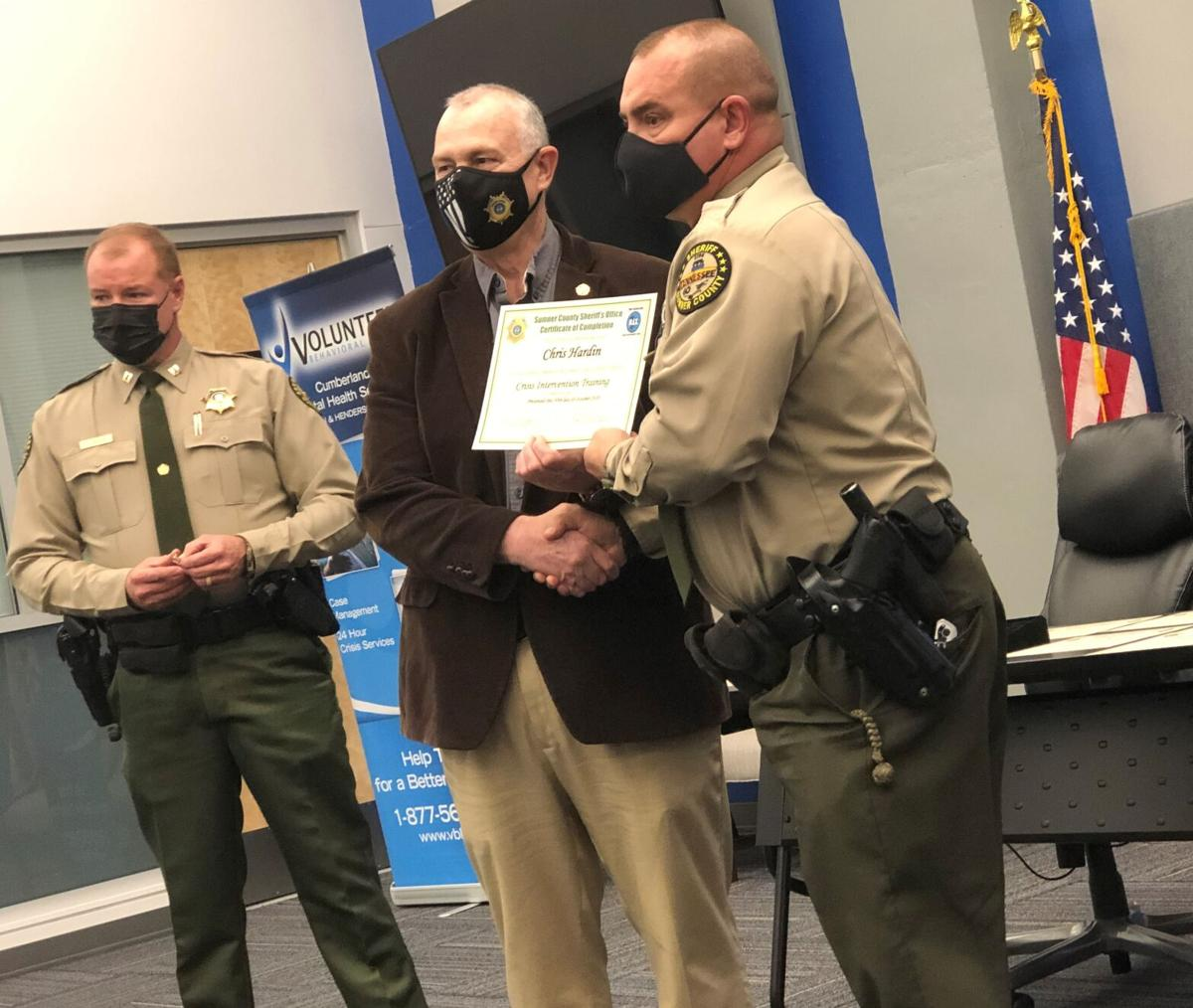 Officers recognized for receiving special crisis intervention training2