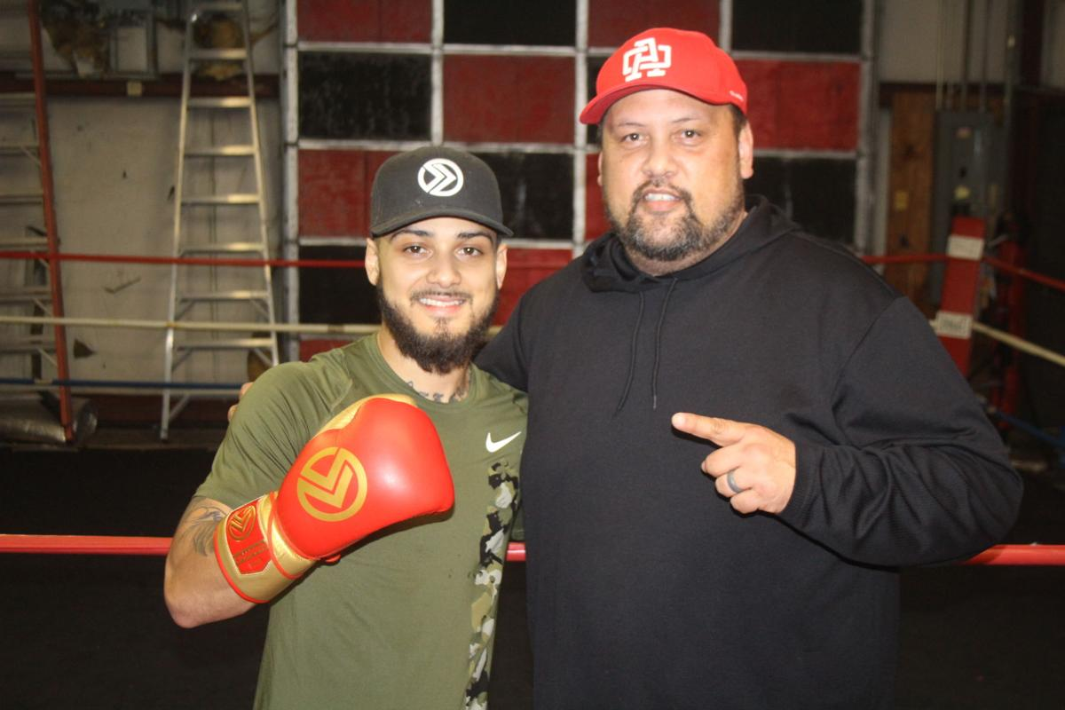 """Austin """"The Dream"""" Dulay will fight on FOX at 7:00 p.m. on Saturday, February 15, against Diego Magdaleno."""" His father, Fred Dulay (right), will be in the corner for the fight as Dulay's official trainer."""