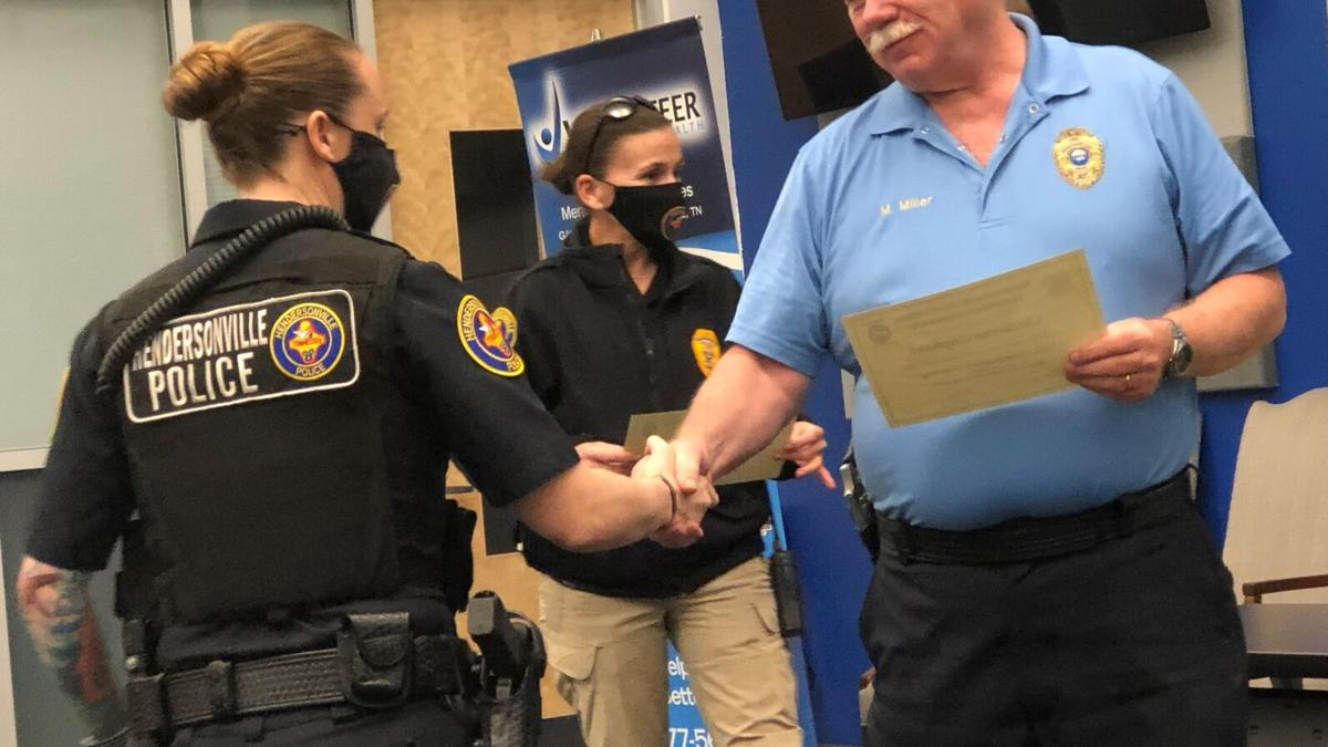 Officers recognized for receiving special crisis intervention training