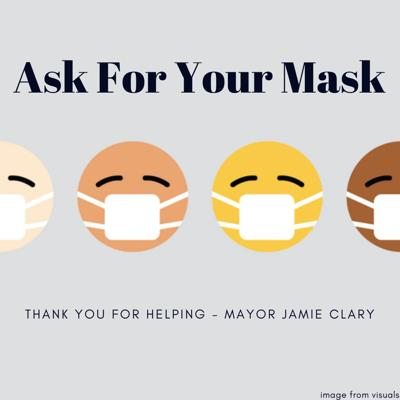 flier ask for your mask