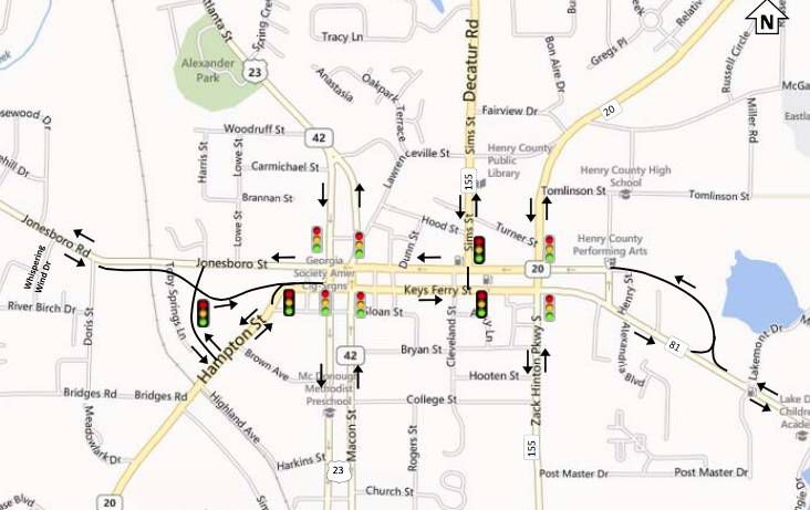 Two projects underway to relieve traffic on McDonough Square ... on ga sc map, buford ga street map, ga rivers map, ga rest area map, ga agriculture map, ga fl map, georgia map, ga city map, ga road atlas, ga railway map, ga regions map, ga power map, ga co map, ga road test, ga state map, pooler ga map, ga airport map, ga forest map, ga travel map, ga stone map,