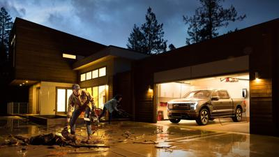 See Ford's electric F-150 pickup truck