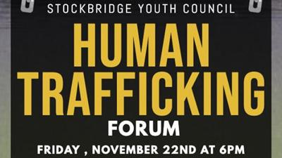 Stockbridge Youth Council holds human trafficking forum Friday at 6 p.m.