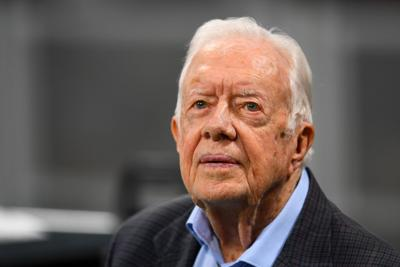Jimmy Carter quietly returns to his Georgia church after brain surgery