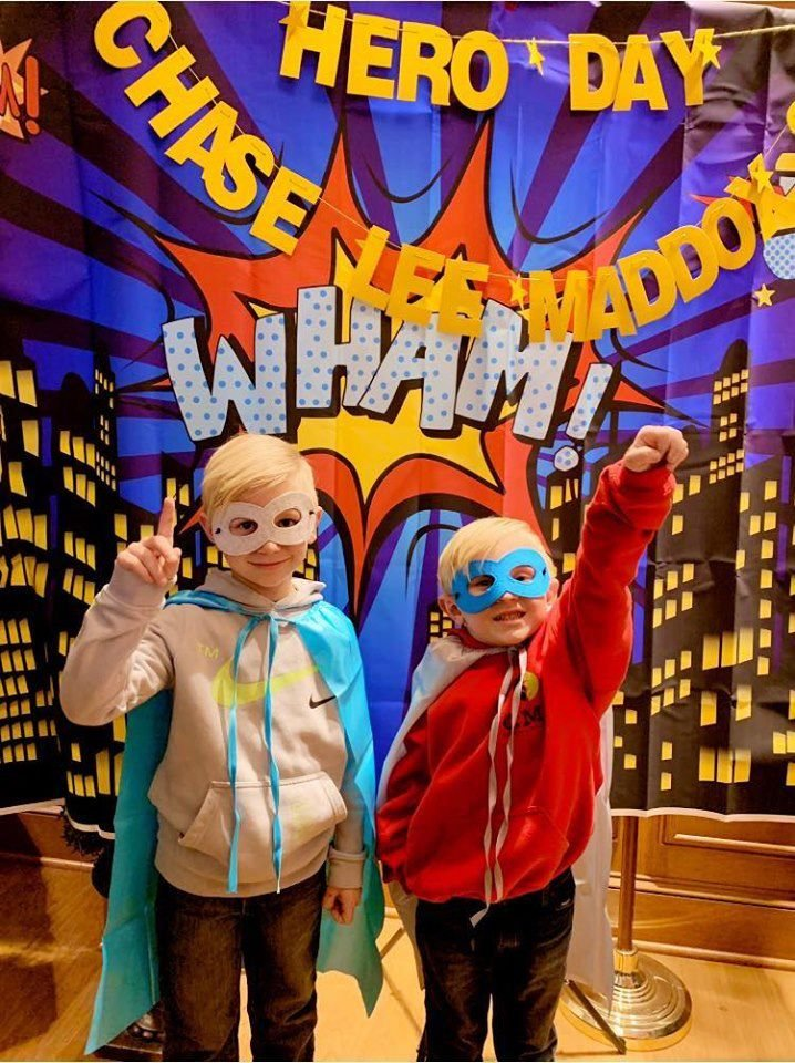 Rain doesn't dampen spirits at Chase It Up superhero party