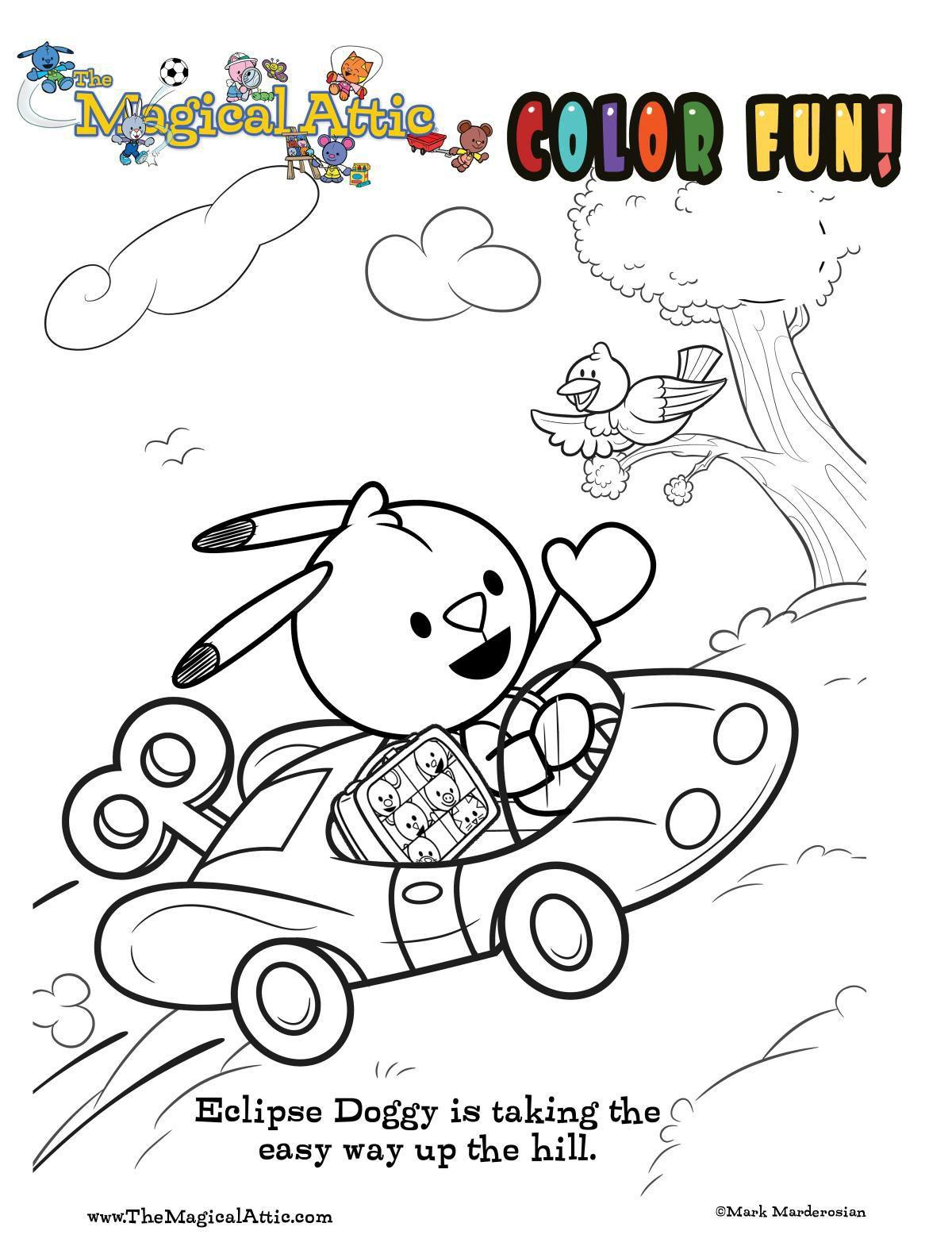 Coloring with Eclipse Doggy