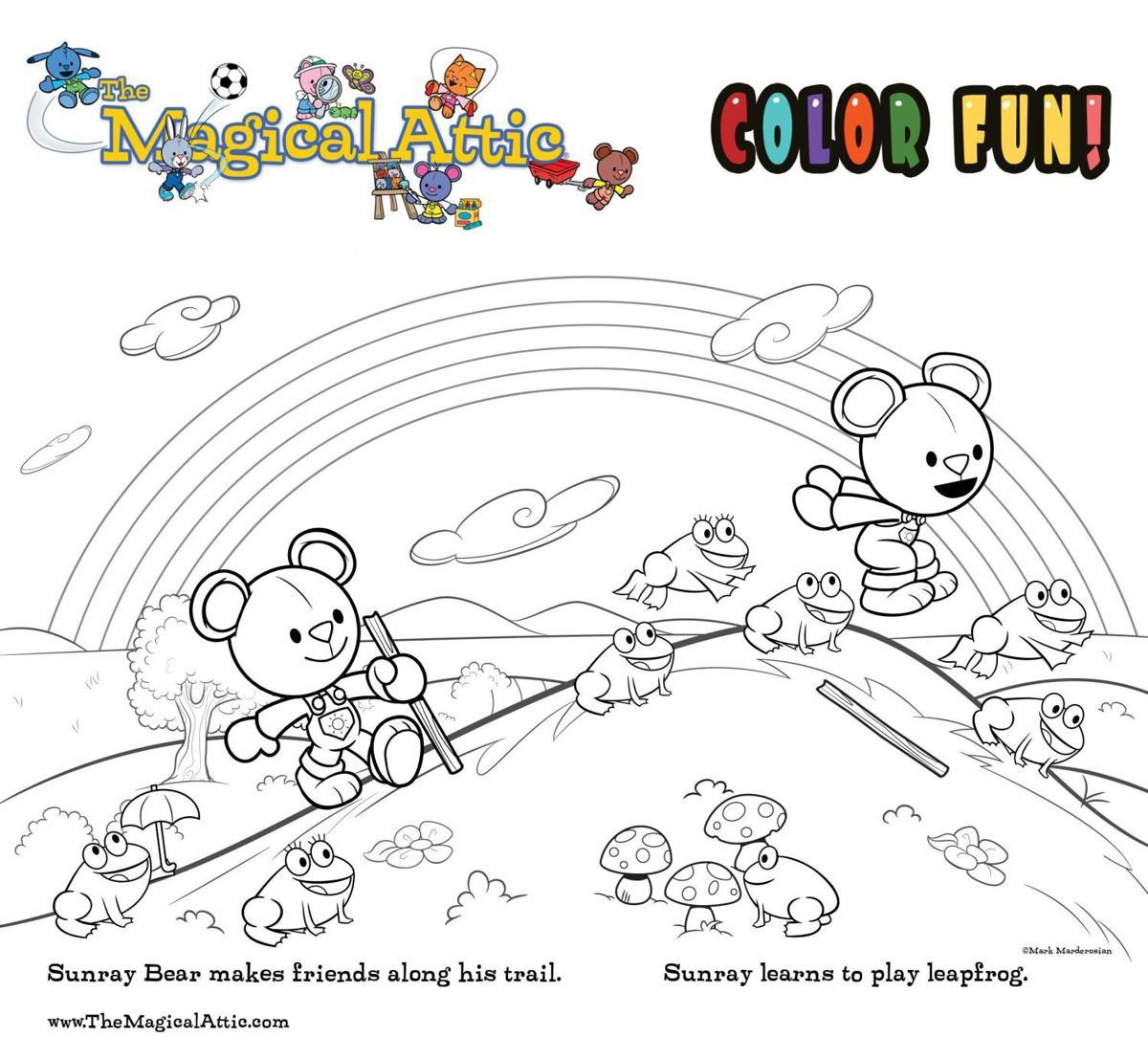 Coloring fun with Sunray Bear