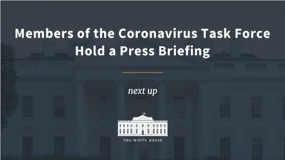 LIVE: Watch Thursday's White House coronavirus press conference
