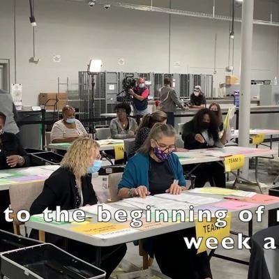 VIDEO: Gwinnett County hand recounts 2020 presidential election ballots